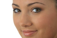 Retrato de la mujer joven con la piel de la salud de la cara fotos de archivo libres de regalías