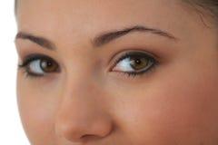 Retrato de la mujer joven con la piel de la salud de la cara fotografía de archivo