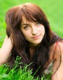 Retrato de la mujer joven hermosa Imagen de archivo