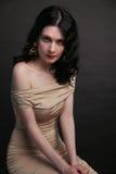 Retrato de la mujer joven hermosa Foto de archivo