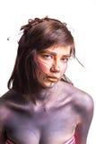 Retrato de la mujer joven hermosa con maquillaje creativo del arte pop Fotos de archivo