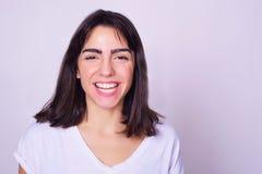 Retrato de la mujer joven hispánica hermosa fotografía de archivo libre de regalías
