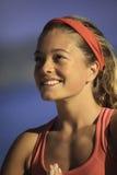 Retrato de la mujer joven que hace yoga Imágenes de archivo libres de regalías