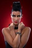 Retrato de la mujer malvada Imagen de archivo