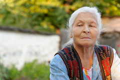 Retrato de la mujer mayor Fotos de archivo
