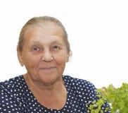 Retrato de la mujer mayor. Fotos de archivo libres de regalías