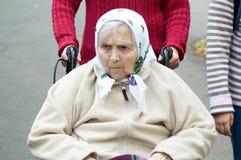 Retrato de la mujer mayor. Imagen de archivo libre de regalías
