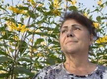 Retrato de la mujer mayor. Imagenes de archivo