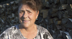 Retrato de la mujer mayor. Imagen de archivo