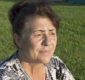Retrato de la mujer mayor. Imágenes de archivo libres de regalías