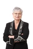 Retrato de la mujer mayor activa Fotografía de archivo