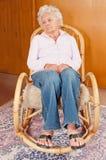 Retrato de la mujer mayor triste Imagen de archivo libre de regalías