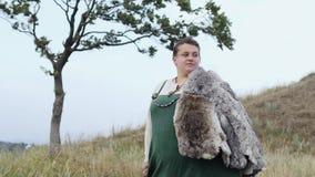 Retrato de la mujer medieval Viking metrajes