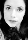 Retrato de la mujer que se pregunta Imagenes de archivo