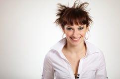 Retrato de la mujer sincera del redhead Imagenes de archivo