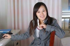 Retrato de la mujer sonriente Fotografía de archivo libre de regalías