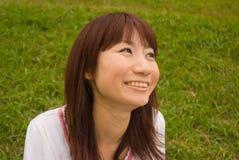 Retrato de la mujer sonriente Fotos de archivo