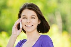 Retrato de la mujer sonriente joven Imagen de archivo libre de regalías