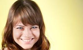 Retrato de la mujer triguena hermosa joven Imagen de archivo