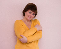 Retrato de la mujer triste madura atractiva Fotos de archivo libres de regalías