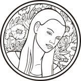 Retrato de la mujer, vector Fotos de archivo