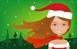 Retrato de la Navidad ilustración del vector