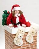 Retrato de la Navidad Imagen de archivo