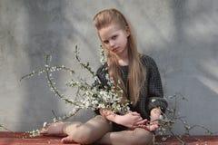 Retrato de la niña al aire libre Imagen de archivo libre de regalías