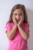 Retrato de la niña con la expresión de la cara Imágenes de archivo libres de regalías