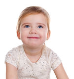 Retrato de la niña feliz foto de archivo