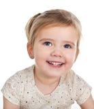 Retrato de la niña linda sonriente imagen de archivo