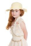 Retrato de la niña pelirroja Foto de archivo