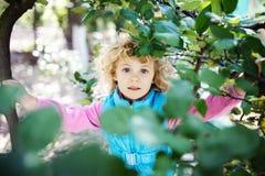 Retrato de la niña rubia linda Imagenes de archivo