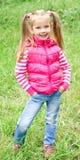 Retrato de la niña sonriente adorable Fotos de archivo libres de regalías