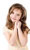 Retrato de la niña sonriente adorable Imagenes de archivo
