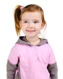 Retrato de la niña sonriente feliz fotografía de archivo libre de regalías