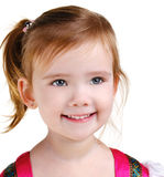 Retrato de la niña sonriente feliz fotografía de archivo