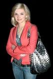 Retrato de la noche de la chica joven Foto de archivo