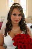 Retrato de la novia antes de Wedding Foto de archivo