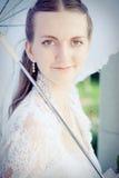 Retrato de la novia bonita Fotografía de archivo