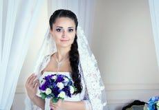 Retrato de la novia hermosa Imagen de archivo libre de regalías