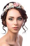 Retrato de la novia hermosa joven Imagen de archivo libre de regalías