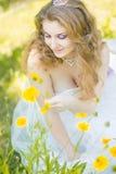 Retrato de la novia joven hermosa Fotos de archivo
