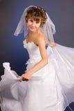 Retrato de la novia joven hermosa Foto de archivo