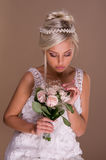 Retrato de la novia rubia hermosa Imágenes de archivo libres de regalías