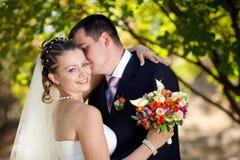 Retrato de la novia y del novio foto de archivo libre de regalías