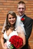Retrato de la novia y del novio Imagen de archivo libre de regalías