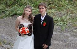 Retrato de la novia y del novio Imagenes de archivo