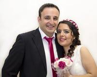 Retrato de la pareja casada feliz Imágenes de archivo libres de regalías
