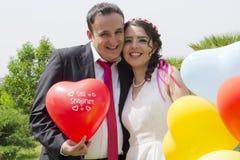 Retrato de la pareja casada feliz Imagen de archivo libre de regalías